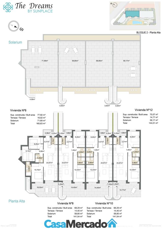 Bloque 2 apartamentos en primer piso